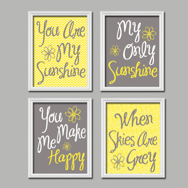 You Are My Sunshine Print Artwork
