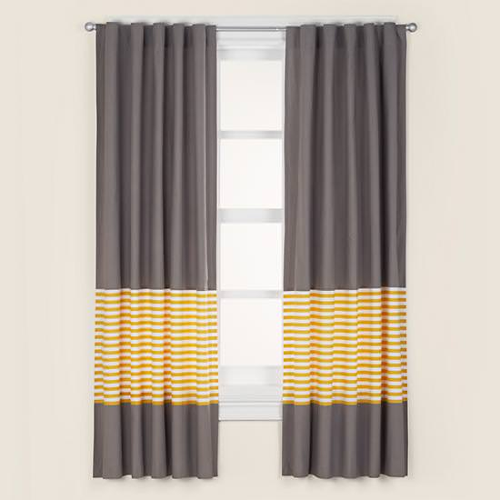 """New Curtains for Baby's Room From """"The Land of Nod"""""""