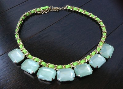 Mint Green Gem Necklace (Myntbox - June Review)