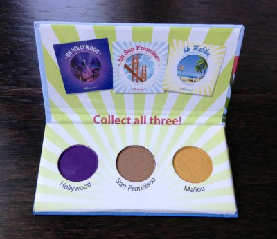 BH Cosmetics California Collection Eyeshadow Sample (ipsy Glam Bag – July Review)