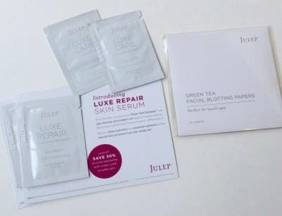 Luxe Care Hand Creme & Luxe Repair Skin Serum / Green Tea Facial Blotting Papers