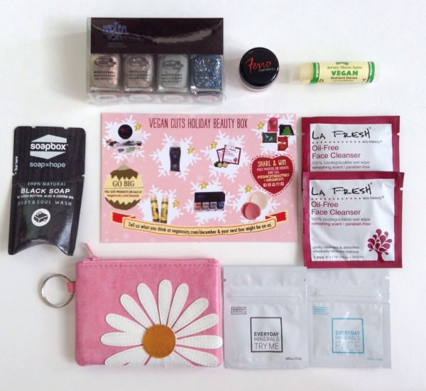 Vegan Cuts Holiday Beauty Box Review - December 2013
