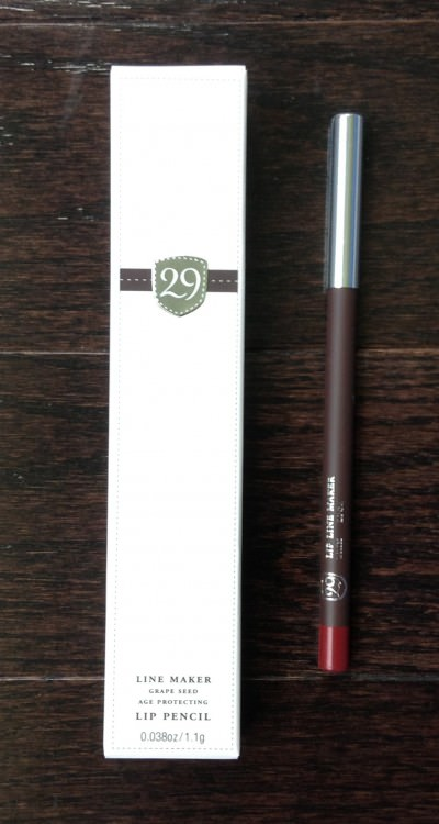 29 Cosmetics Lip Liner - Brix (Lip Factory Inc. - July Review)