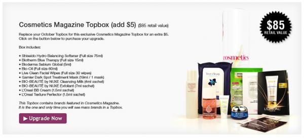 Cosmetics Magazine Topbox