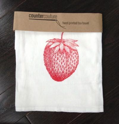 Countercouture Strawberry Tea Towel