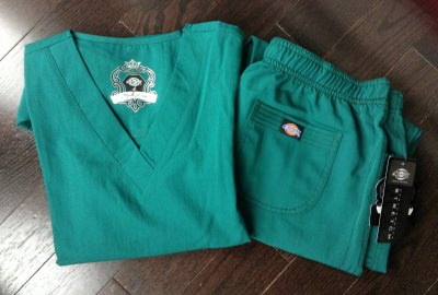 Set of Dickies in Hunter Green