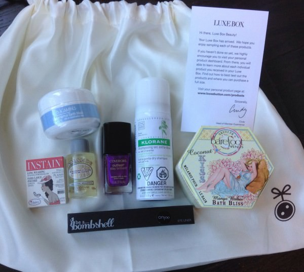 Luxe Box Review - Fall 2013