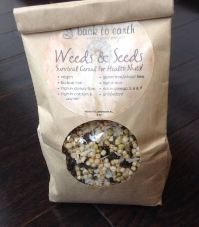 Back To Earth Weeds Andseeds Cereal