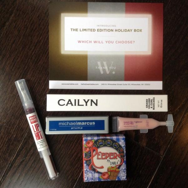 Wantable Makeup Box Review – November 2013