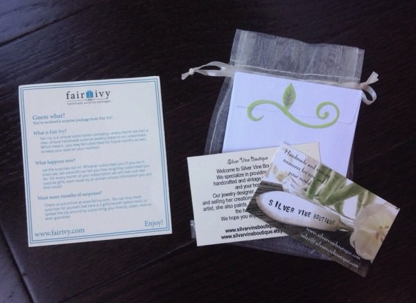 Fair Ivy Review - November 2013 - Monthly Gift Box Subscription