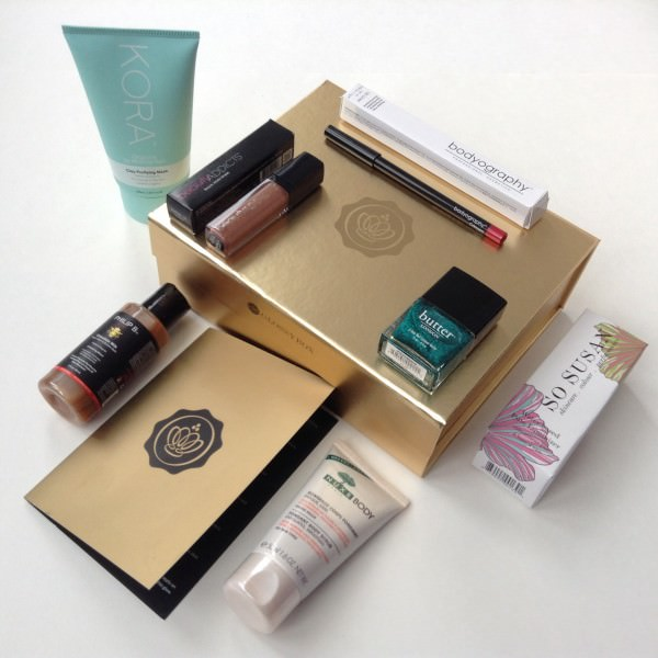 Limited Edition Gold Holiday Glossybox Review - December 2013