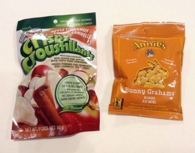 Brothers-All-Natural Apple Cinnamon Crisps, Annie's Bunny Grahams