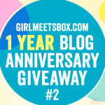 Girl Meets Box's 1 Year Blog Anniversary Giveaway #2