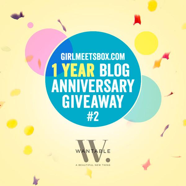 Blog Anniversary Giveaway #2 – Wantable Box