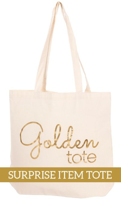 Golden Tote – The Surprise Item Tote Available Now!