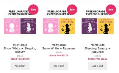 Memebox VIP Exclusives! New Princess Edition Boxes!