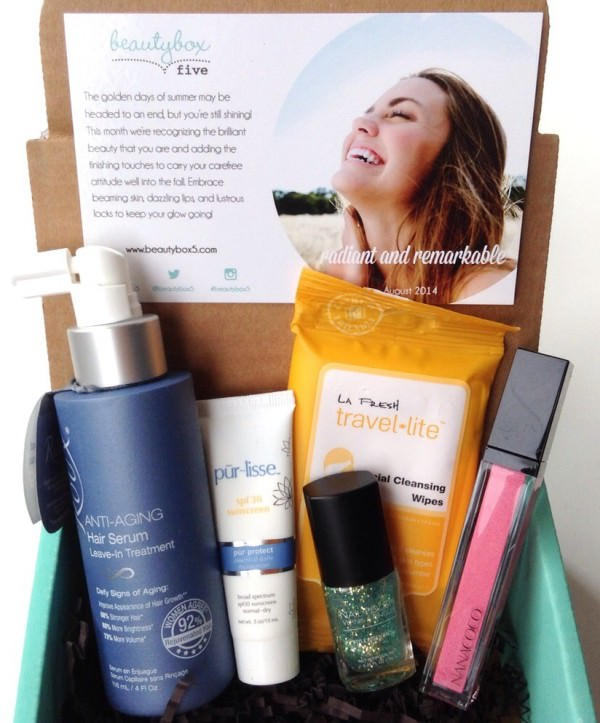 Beauty Box 5 Review + Coupon Code – August 2014