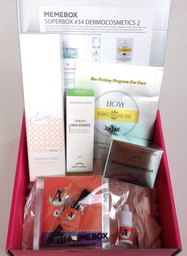 Memebox Superbox #34 Dermocosmetics 2 Review + Promo Codes – August 2014
