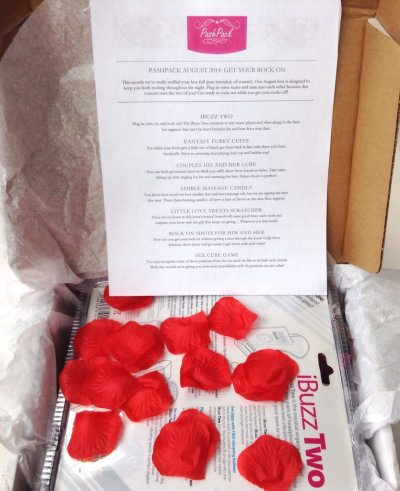 PashPack Review – Adult Subscription Box + Coupon Code – August 2014