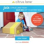 Citrus Lane $10 Off Coupon Code + Free Bonus Box!