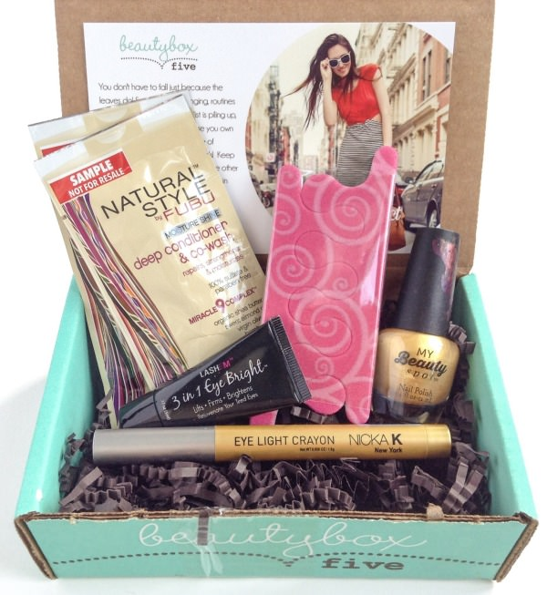 Beauty Box 5 Review + Coupon Codes – September 2014