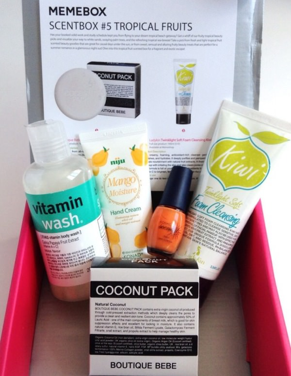 Memebox Scentbox #5 Tropical Fruits Review + Promo Codes