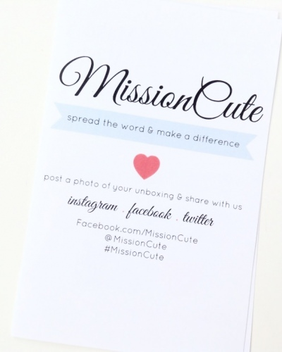 MissionCute Review – November 2014