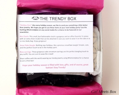 The Trendy Box Review + GIVEAWAY – December 2014