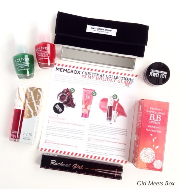 Memebox Christmas Collection #2 My Holiday Glam + Promo Code