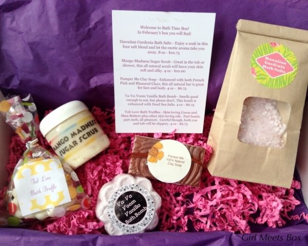 Bath Time Box Review + Coupon Code – February 2015