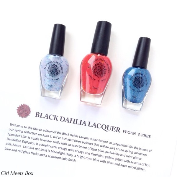 Black Dahlia Lacquer Review + Coupon Code & GIVEAWAY – March 2015