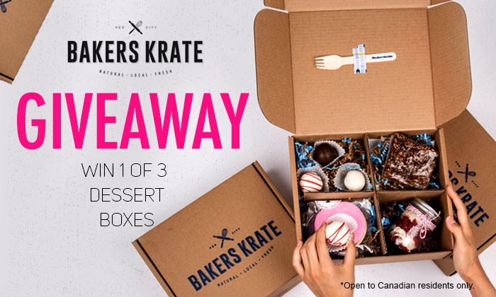 Bakers Krate Giveaway! Win 1 of 3 Dessert Boxes!