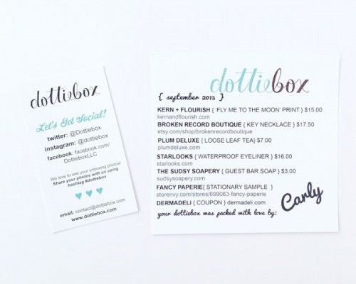 Dottiebox Review – September 2015