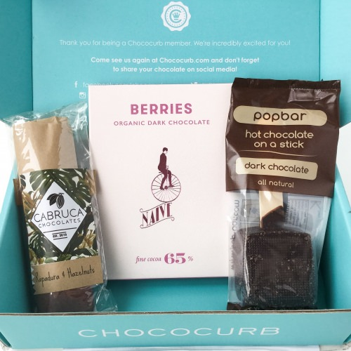 Chococurb Mini Review – Chocolate Subscription Box – March 2016