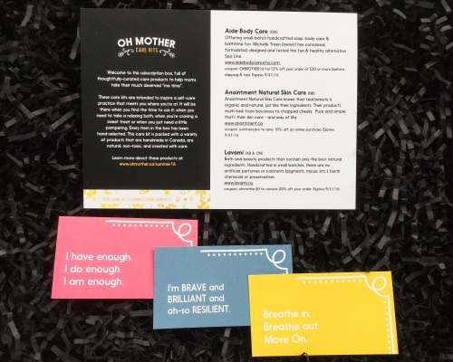 Oh Mother Care Kit Review + Coupon Code- June 2016