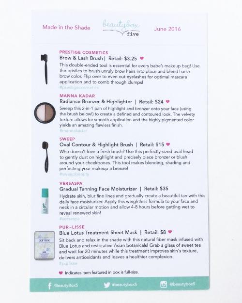 Beauty Box 5 Review – June 2016