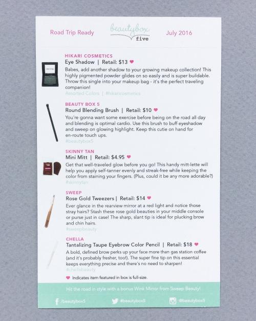 Beauty Box 5 Review – July 2016