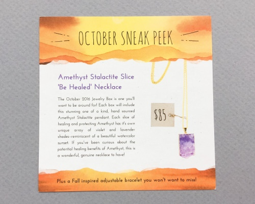 Yogi Surprise Jewelry Subscription Box Review + Coupon Code – September 2016