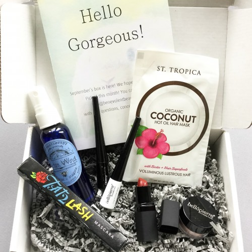 Benevolent Beauty Box Review + Coupon Code – September 2016