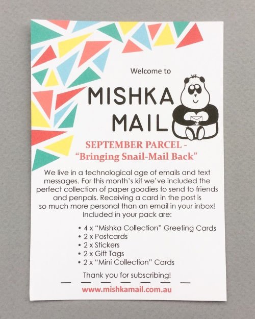 Mishka Mail Review – September 2016