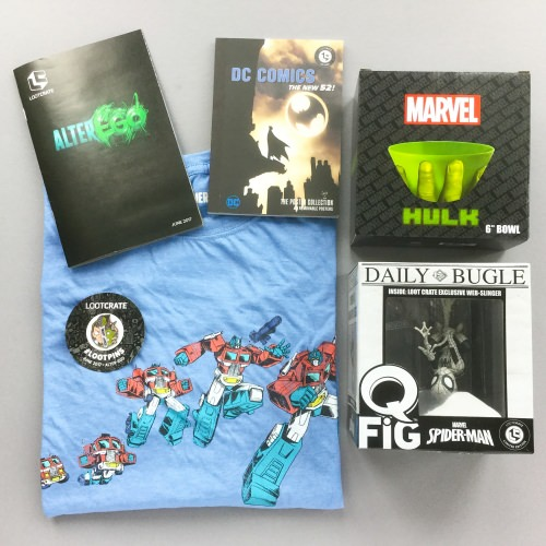Loot Crate Subscription Box Review + Coupon Code – June 2017