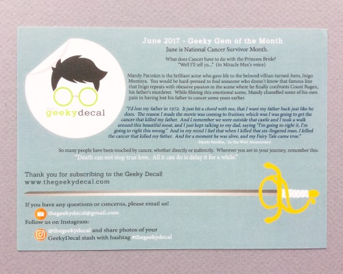 The Geeky Decal Review + Coupon Code – June 2017