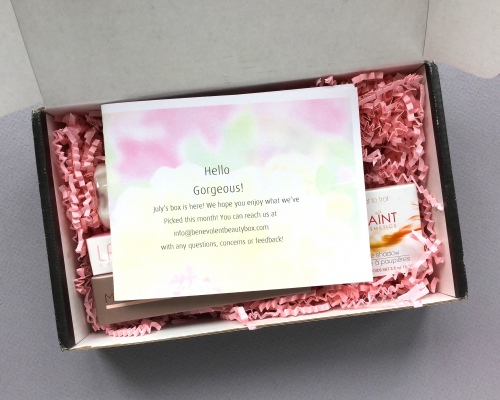 Benevolent Beauty Box Review + Coupon Code – July 2017