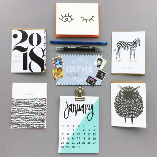 Postmark'd Studio Subscription Box Review – January 2018