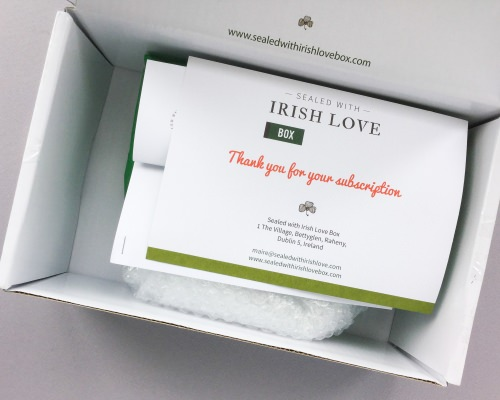 Sealed with Irish Love Box Review – February 2018