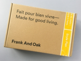 Frank And Oak Style Plan Subscription Box Review + Promo Code – September 2018