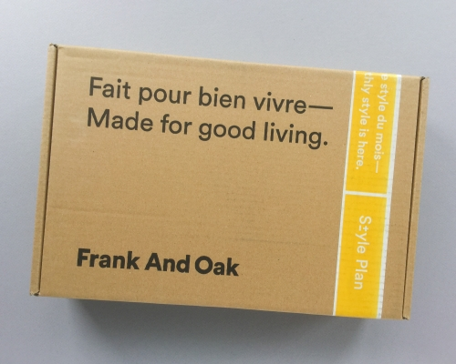 Frank And Oak Style Plan Subscription Box Review + Promo Code – October 2018