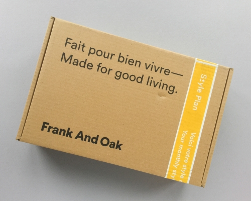 Frank And Oak Style Plan Subscription Box Review – November 2018